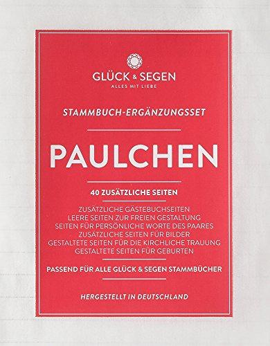 Stammbuch Ergänzungsset PAULCHEN – Kirche, Geburt, Bastelseiten – 6 fach gelocht