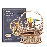 RuiyiF 3D Wooden Music Box Puzzles for Adults to Build, Assembly Music Box Model Kit for Girls, 3D Mechanical Puzzle Box Table Ornament Birthday Gifts