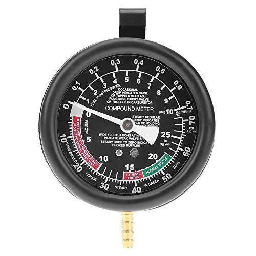 CAIZHIXIANG Motor de Coche de la presión de vacío Lester Metro del calibrador for la Herramienta del probador de Fugas de Sellos Sistema de Vacío del Sistema de Combustible