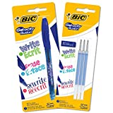 BIC Gel-ocity Illusion Penna Gel Cancellabile Punta Media (0,7 mm) - Blu, Pacco Da 1 Penna...