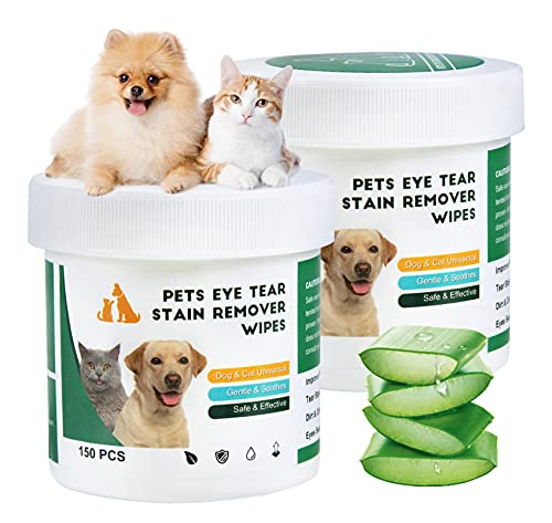 Hywean 300 Piezas de Toallitas para Ojos de Perros, Toallitas para Mascotas por Las Lágrimas de los Ojos de Las Mascotas