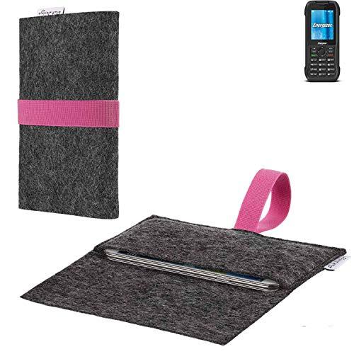 flat.design vegane Handy Hülle Aveiro für Energizer H240S passgenaue Filz Tasche Case Sleeve Made in Germany