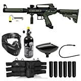 Maddog Tippmann Cronus Tactical Titanium Paintball Gun Package (Tactical Black/Olive HPA Kit)