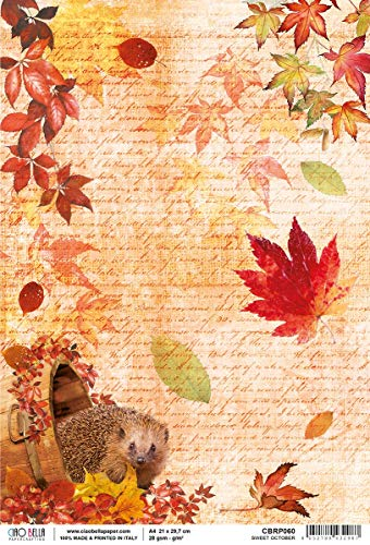 CIAO BELLA PAPER Rijst SWT OCTOBR, Zoete Oktober, Geluid van de herfst, One Size