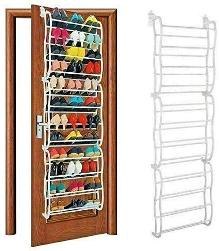 COLIBROX Trade Shop Over-The-Door Shoe Rack 36 Pairs forWall Hanging Closet Organizer Storage Stand