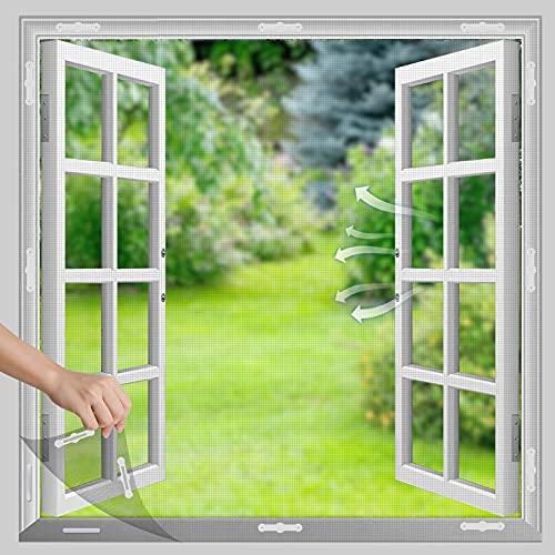 Magnet Fliegengitter Fenster, Insektenschutz mit Magnetbefestigung, Zuschneidbar für alle Fenster bis 120 x 120 cm, Kinderleichte Montage, 12 Magneten (120 x 120 cm)