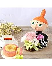 誕生日 の プレゼント 人気商品 花 バラ おいもや ケーキ洋菓子 お菓子 花とスイーツ お祝いギフト プリザーブドフラワー アレンジメント ムーミン ゆらゆらドールミー(大・ピンク)