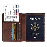 Fintie Porta Passaporto da Viaggio Portafoglio con Protezione RFID per Carte di credito ID...