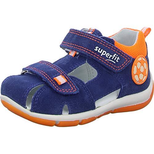 Superfit Baby Jungen FREDDY Sandalen, (Blau/Orange 80), 23 EU