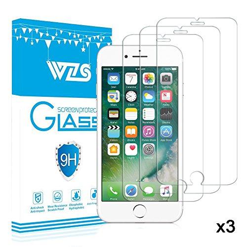 [3-Pack] Vetro Temperato iPhone 8 plus / 7 plus / 6 plus / 6S plus, Pellicola Protettiva WZS® in Vetro...