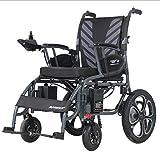 De Peso Ligero Plegable Silla de Ruedas eléctrica Suspensión de Ancianos discapacitados Vespa Frente Electrónica de Frenado