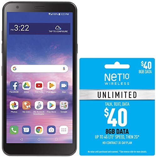 Net10 LG Journey 4G LTE Prepaid Smartphone with $40 Airtime Bundle
