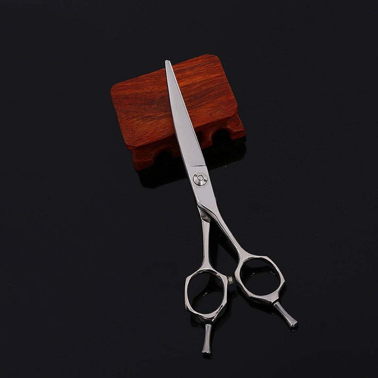 パテ悲しいことに葉巻6インチプロフェッショナルハイエンド理髪はさみツールフラットせん断はさみ モデリングツール (色 : Silver)