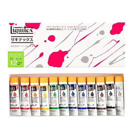 Liquitex Soft # 6 Dentoushoku 12C set (japan import)