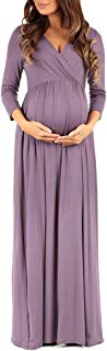Women's Wrapped Ruched Maternity Dress - Made in USA