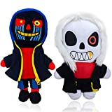 Undertale sans Plush Toy, Aftertale Plushy Doll Figures, Birthday plushies Halloween Fear Stuffed Animals Gifts for Children 11 Inch(2PCS)…