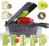 Vegetable Chopper Spiralizer Slicer Cutter Chopper and Grater 9 in 1 Vegetable, Pro Food Chopper, Slicer Dicer Cutter