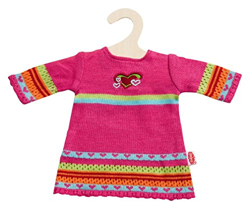 Heless 1533heless Hearty en tricot robe pour petite poupée, Taille 28 - 35 cm