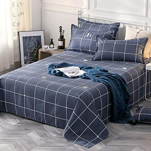 NVJR 1 Bettlaken + 2 Kissenbezüge Bettlaken 100% Baumwolle Matratzenschoner Bezug Bettlaken weiches Bettlaken 2020, R, 230 x 110 cm