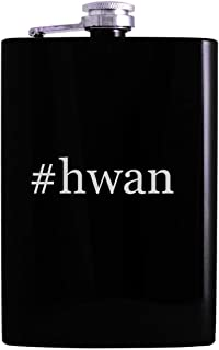 #hwan - 8oz Hashtag Hip Alcohol Drinking Flask, Black