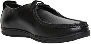 Casual Black Color Derby Leather Shoes for Men