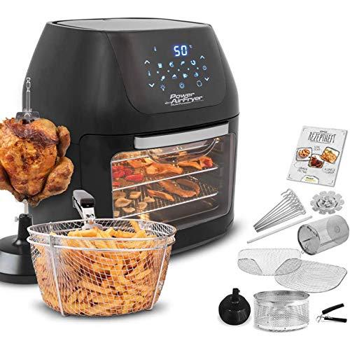 MediaShop Power Air Fryer Multi-Function Deluxe – Heißluft-Fritteuse zum Frittieren ohne Öl – 6-in-1 auch als Dörrautomat, zum Grillen u. v. m. – bis zu 80{cc7be077d31516cf5e8ad4baa16bead576054164a69b7d2ea17abe5808f5d550} weniger Fett