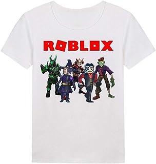 HJkjlmlFG Roblox Maglietta T-Shirt Casual Girocollo Stampata a Manica Corta in Puro Cotone Ragazzi e Ragazze