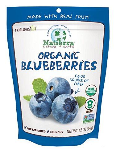 Natierra Nature's Organic Freeze-Dried Blueberries | Gluten Free & Vegan | 1.2 Ounce