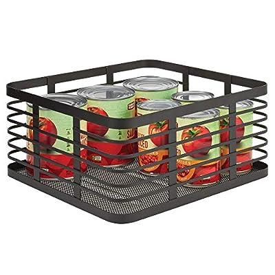 mDesign Metal Wire Food Organizer Storage Bins from