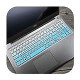 Laptop-Tastaturabdeckung aus Silikon für Dell Vostro 15 5568 3562 3568 V3568 Vostro15 5000 V5568 Vostro 3559 2628 7570-Gradualblue