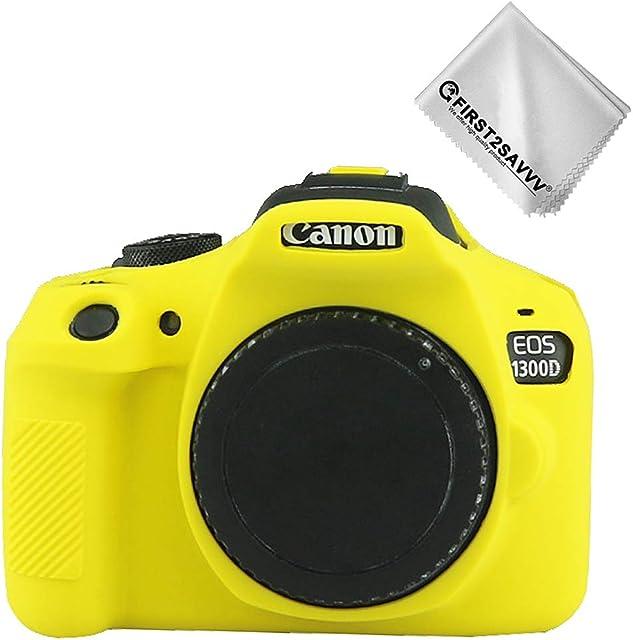 Amarillo Cuerpo Completo Caucho de TPU Funda Estuche Silicona para cámara para Canon Rebel T6 Rebel T7 Kiss X80 Kiss X90 EOS 2000D 1500D 1300D