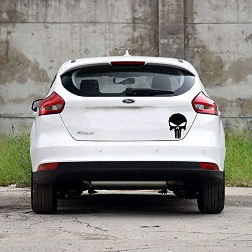 tonywu Kreative Persönlichkeit Horror-Thriller Skull Auto Aufkleber Motor Decken Tür Auto Auto Aufkleber Seitlich Tür Dekorativen Reflektierenden Auto-Aufkleber 14X10CM Eine
