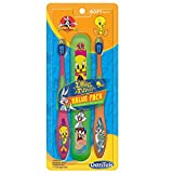 DenTek Looney Tunes Toothbrush with Holder, Bugs Bunny and Tweety Bird, 2 Count