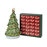 Villeroy & Boch Christmas Toy's Calendario dell'Avvento 3D Albero, Multicolore, 25 x 32 x 43 cm
