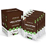 VeganTek Superalimentos10 sobres 4 en 1 Paquete básico de mezcla de Apto para Dieta Keto Apto para Mezcla Vegana de Chocolate Sin lácteos Sin soja Bajo en carbohidratos 200g