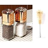 Molinillos para Pimienta Cocina Artículos para el hogar Botella de condimento de Vidrio Acero Inoxidable Molino de Pimienta Manual (Size : 1cps)