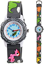 Venhoo Kids Watches 3D Cute Cartoon Waterproof Silicone Children Toddler Wrist Watches for Boys Little Child (Gray Cute Dinosaur)