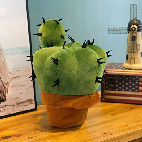 Xzbnwuviei Kaktus-Plüsch-Ornamente, Kunst-Kaktus, gefüllte Pflanze, weiches Kuscheltier, Auto, Plüsch, Kaktus, Kissen, Büro, Sofa, Zuhause, Bücherregal, Dekoration, Ornament