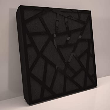 (4 Pack) Sound Absorption-Diffuse Acoustic Panel «Skyross» for rec.studio | Black glossy (plastic)