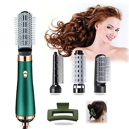Hair Dryer Brush, 4 in 1 Hot Air Hair Brush Comb, One Step Hair Dryer and Volumizer Styler, Salon Negative Ionic Blow Dryer Straightener & Curler