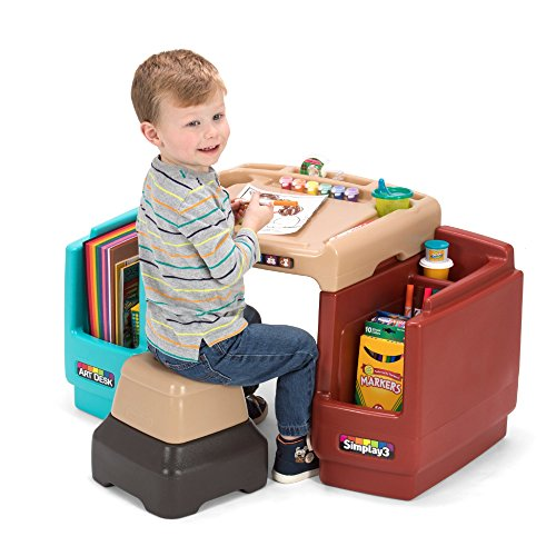 Simplay3 Create and Store Art Desk with Stool for Children 2 and up