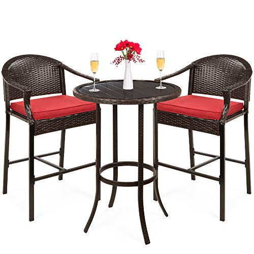 Best Choice Products 3 Piece Outdoor Wicker Table Set