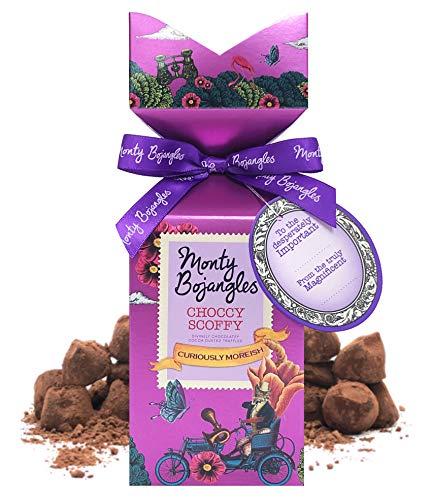 Monty Bojangles Choccy Scoffy Tip Top Kakao bestäubte Pralinen, 150g Geschenk