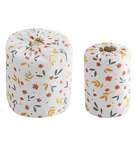 hilltoptocloud bolsa de almacenamiento organizador packing Hamper polvo ropa de cama colcha manta ropa de comestibles armario armario maleta equipaje cesta de basura con cordón, PEVA, pattern 1, 2 PC