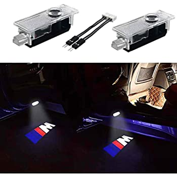 Wesport 4 Pcs Double Interface Design Car Door LED Logo Projector Welcome Lights Ghost Shadow Lights Compatible With Fit Audi