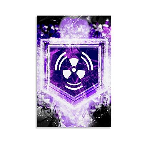 SSKJTC Poster für Zuhause, Wanddekoration, Call of Duty World, abstrakte Zombies, Juggernog Perk, Landschaft, Kunstdruck auf Leinwand, 60 x 90 cm