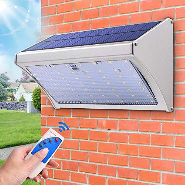 ABONGONE Mikrowellenradar-Bewegungssensor-Solarlicht führte super helle Fernbedienung DREI Modi Garten-Wand-Lampe im Freien