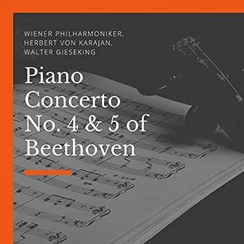 Piano Concerto No. 4 & 5 of Beethoven
