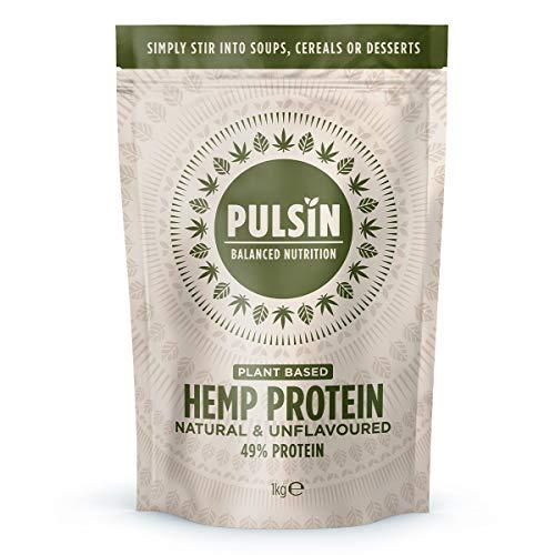 Pulsin Isolate Protein Powder, Hemp, 1000 gram,1kg
