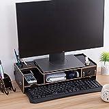 コンピュータのモニタースタンド、木製引き出しグローブ卓上ホルダで増加し、コンピュータベーススタンドフレーム